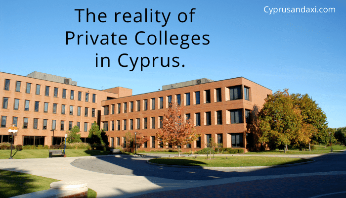Private college fees Cyprus