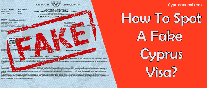 How to spot a fake Cyprus visa