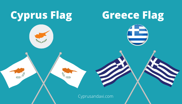 Cyprus and Greece Flags