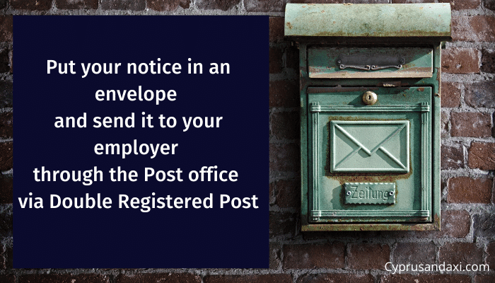 How to give the 30 days Notice Period Letter