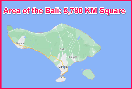 Area of Bali compared to Cyprus