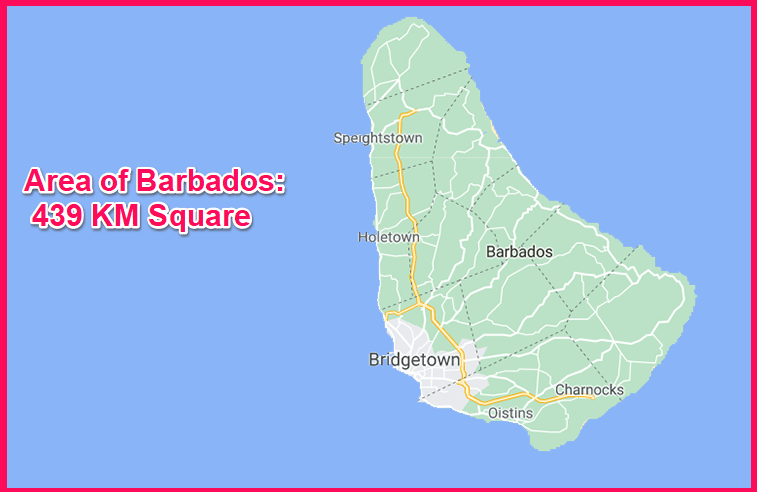 Area of Barbados compared to Cyprus