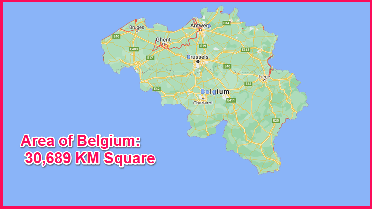 Area of Belgium compared to Cyprus