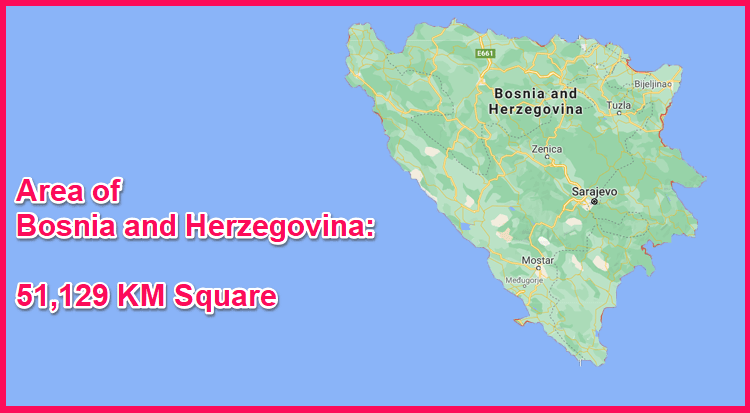 Area of Bosnia and Herzegovina compared to Cyprus