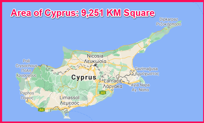 Area of Cyprus compared to Nigeria