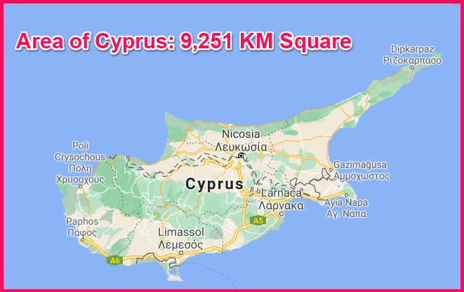 Area of Cyprus compared to Scotland