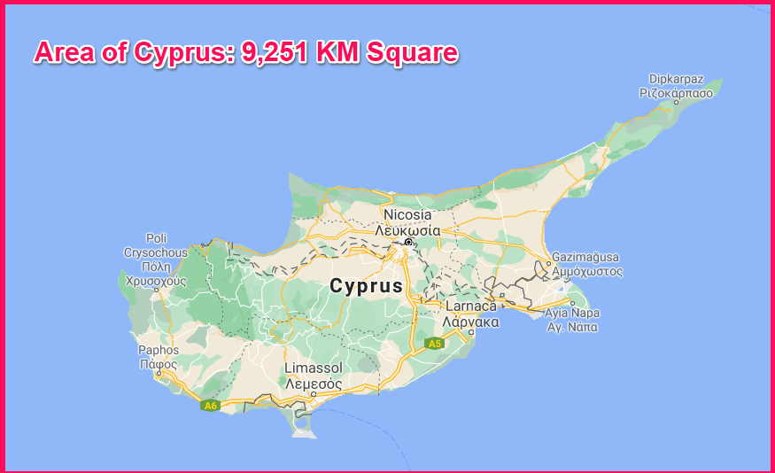 Area of Cyprus compared to Tenerife
