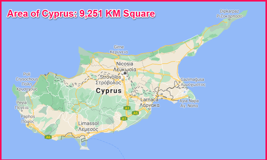 Area of Cyprus