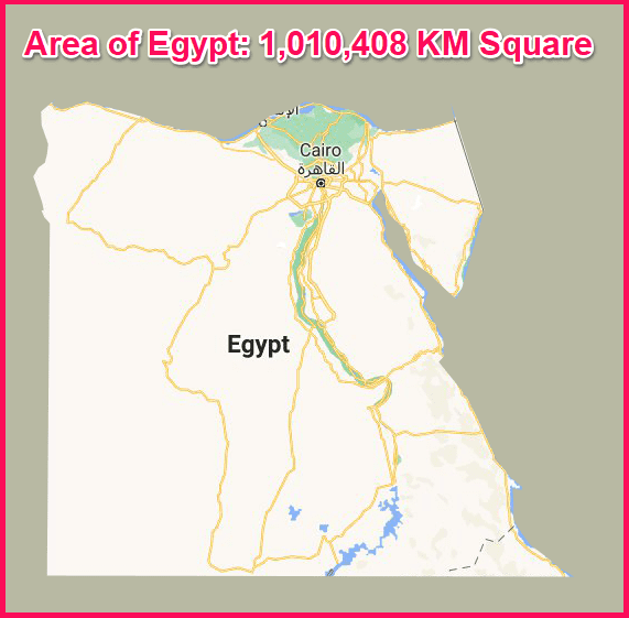 Area of Egypt compared to Cyprus