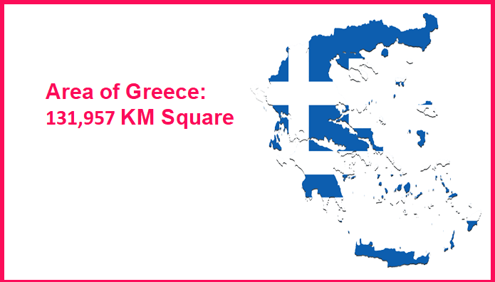Area of Greece compared to Hawaii