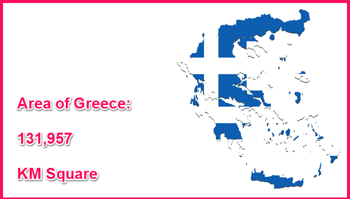 Area of Greece compared to Ireland