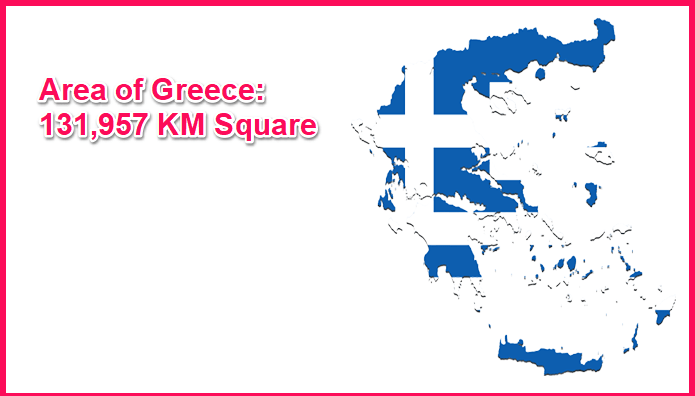 Area of Greece compared to New Mexico