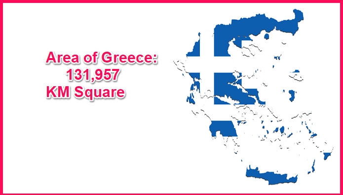 Area of Greece compared to Rome