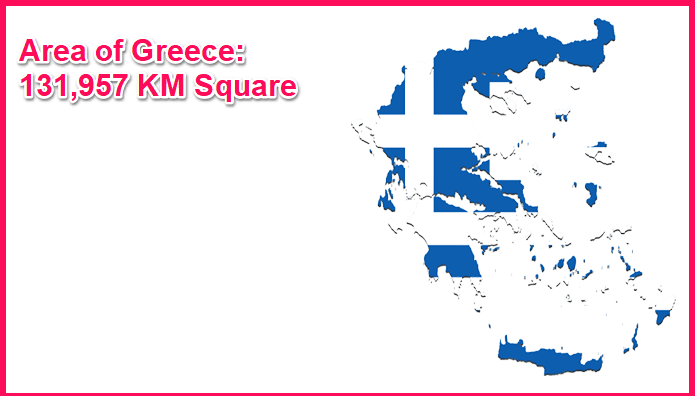 Area of Greece compared to Spain
