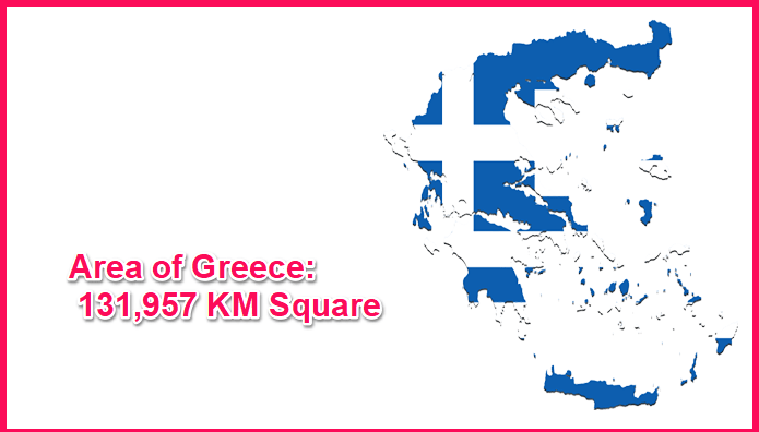 Area of Greece compared to Texas