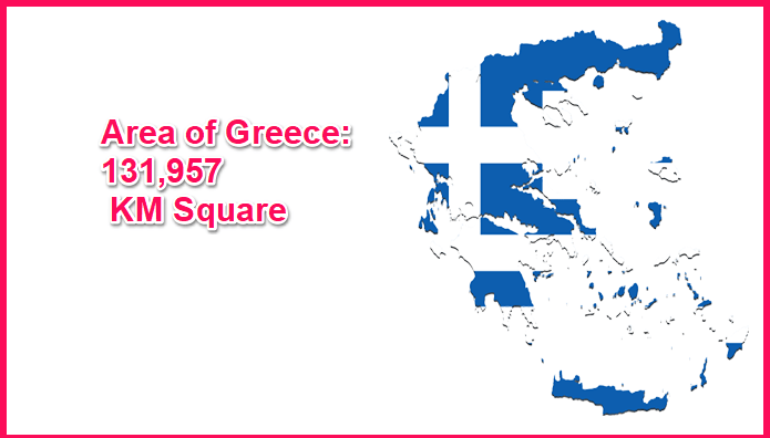 Area of Greece compared to Wales