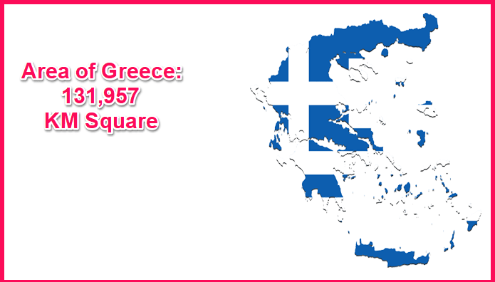Area of Greece compared to the UK