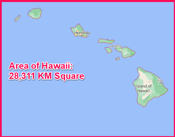 Area of Hawaii compared to Cyprus