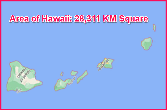 Area of Hawaii compared to Greece