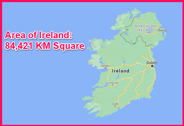 Area of Ireland compared to Greece