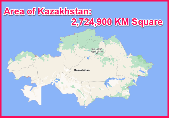 Area of Kazakhstan compared to Cyprus