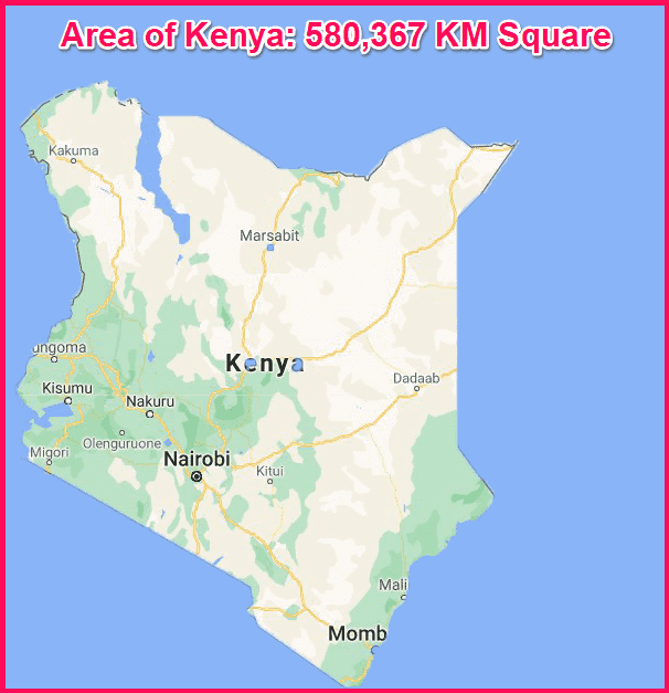 Area of Kenya compared to Cyprus