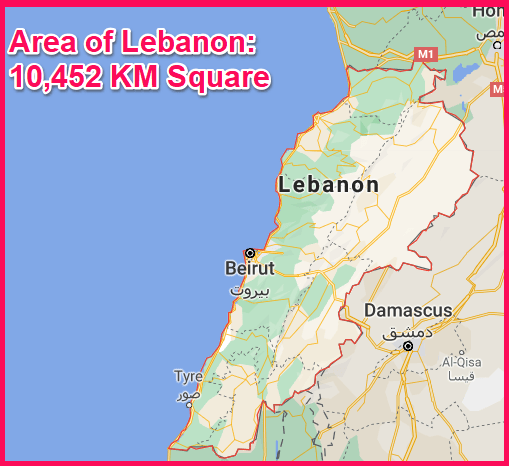 Area of Lebanon Compared to Cyprus
