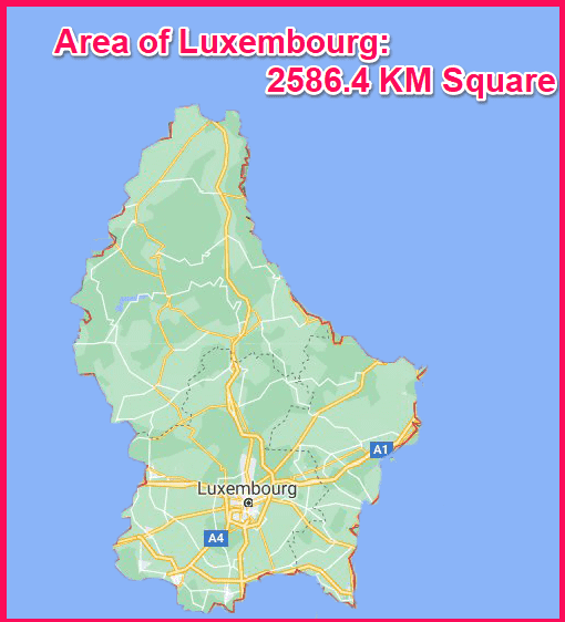 Area of Luxembourg compared to Cyprus