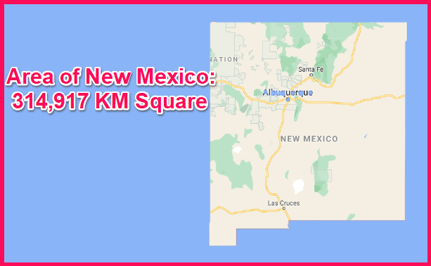 Area of New Mexico compared to Greece