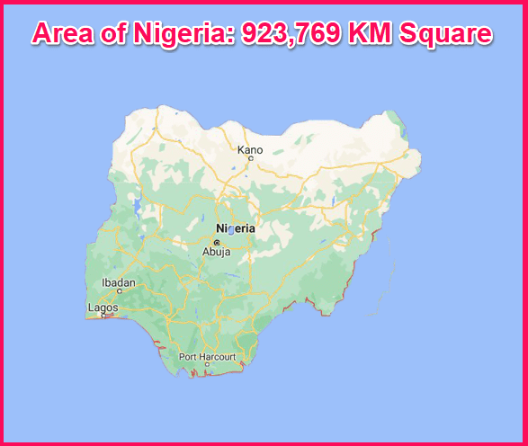 Area of Nigeria compared to Cyprus