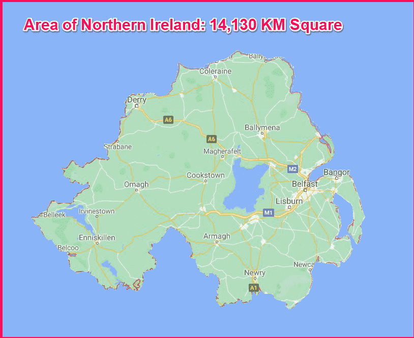 Area of Northern Ireland compared to Cyprus