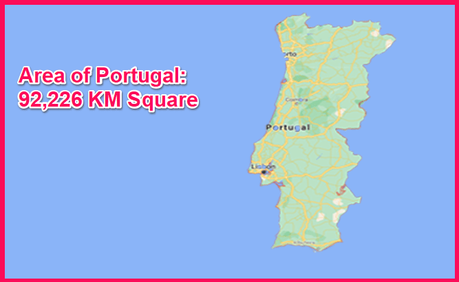 Area of Portugal compared to Cyprus
