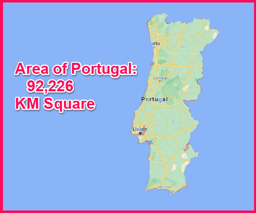 Area of Portugal compared to Greece