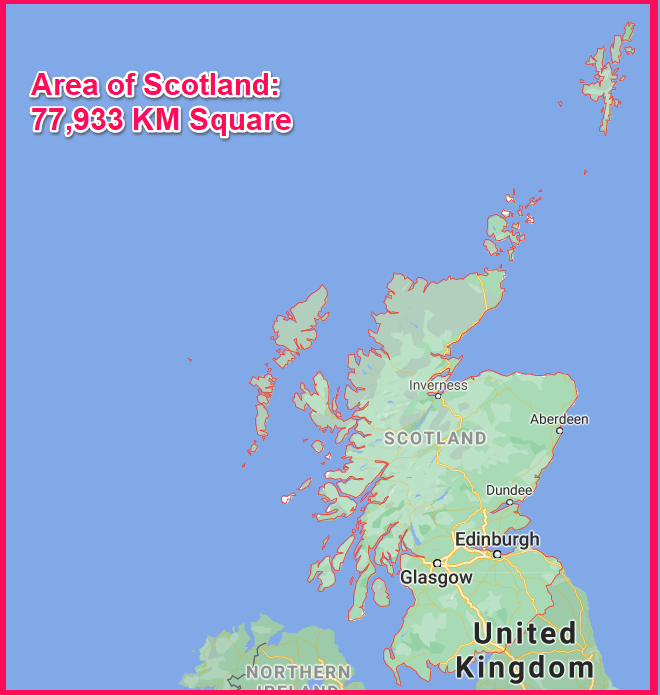 Area of Scotland compared to Cyprus