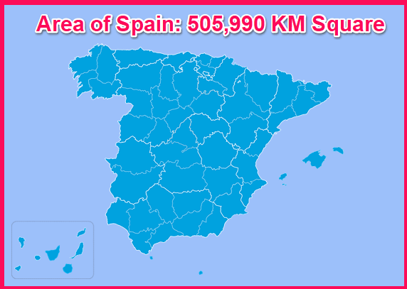 Area of Spain compared to Cyprus