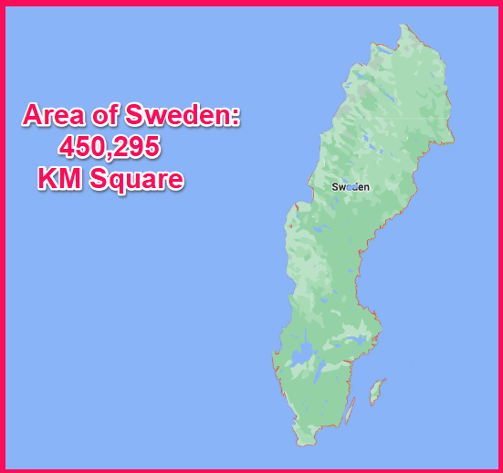 Area of Sweden compared to Greece