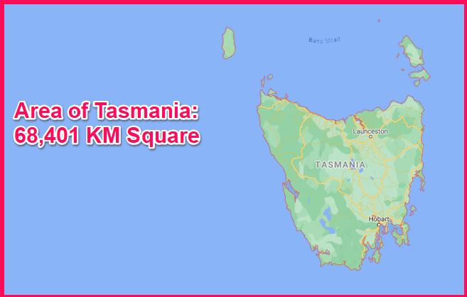 Area of Tasmania compared to Cyprus