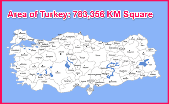 Area of Turkey compared to Greece