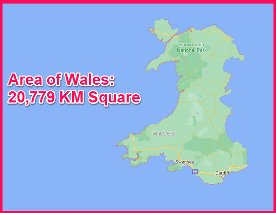 Area of Wales compared to Greece