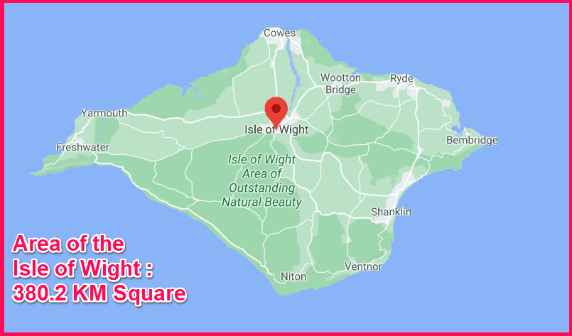 Area of the Isle of Wight compared to Cyprus