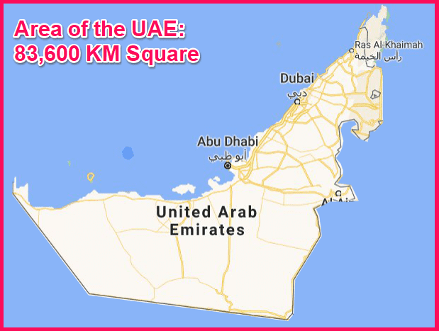 Area of the UAE compared to Cyprus