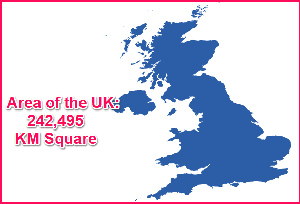 Area of the UK compared to Greece