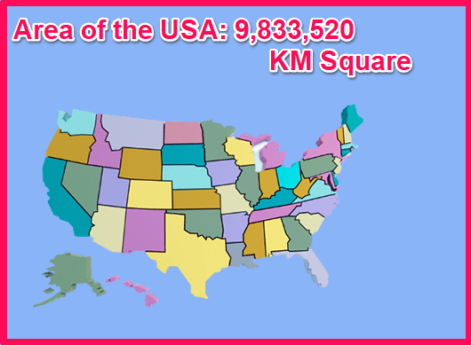 Area of the USA compared to Cyprus