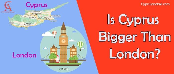 Is Cyprus bigger than London