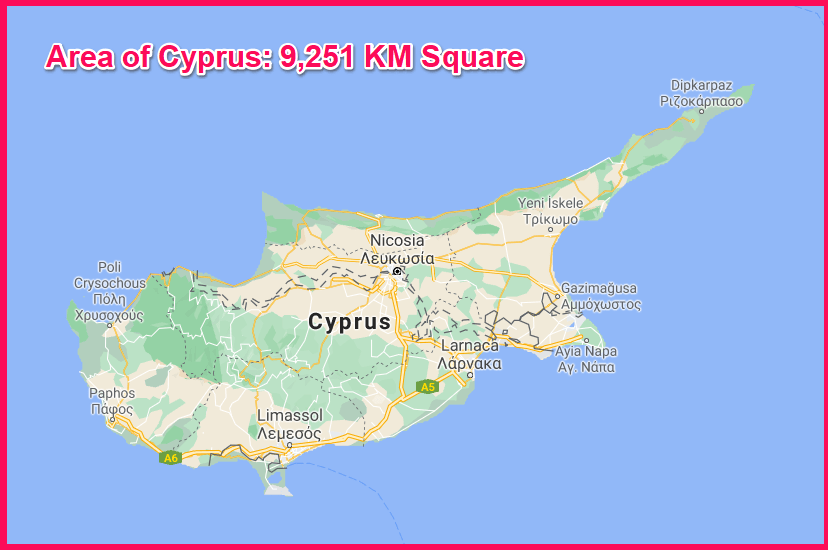 Area of Cyprus compared to Nepal