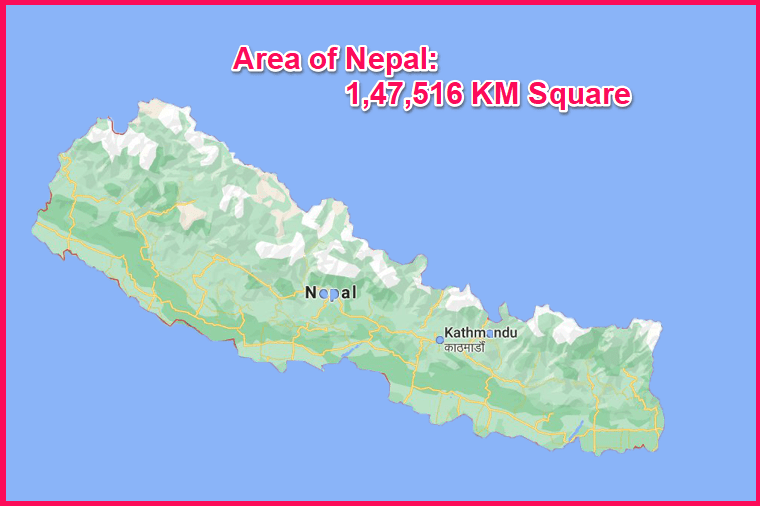 Area of Nepal compared to Cyprus