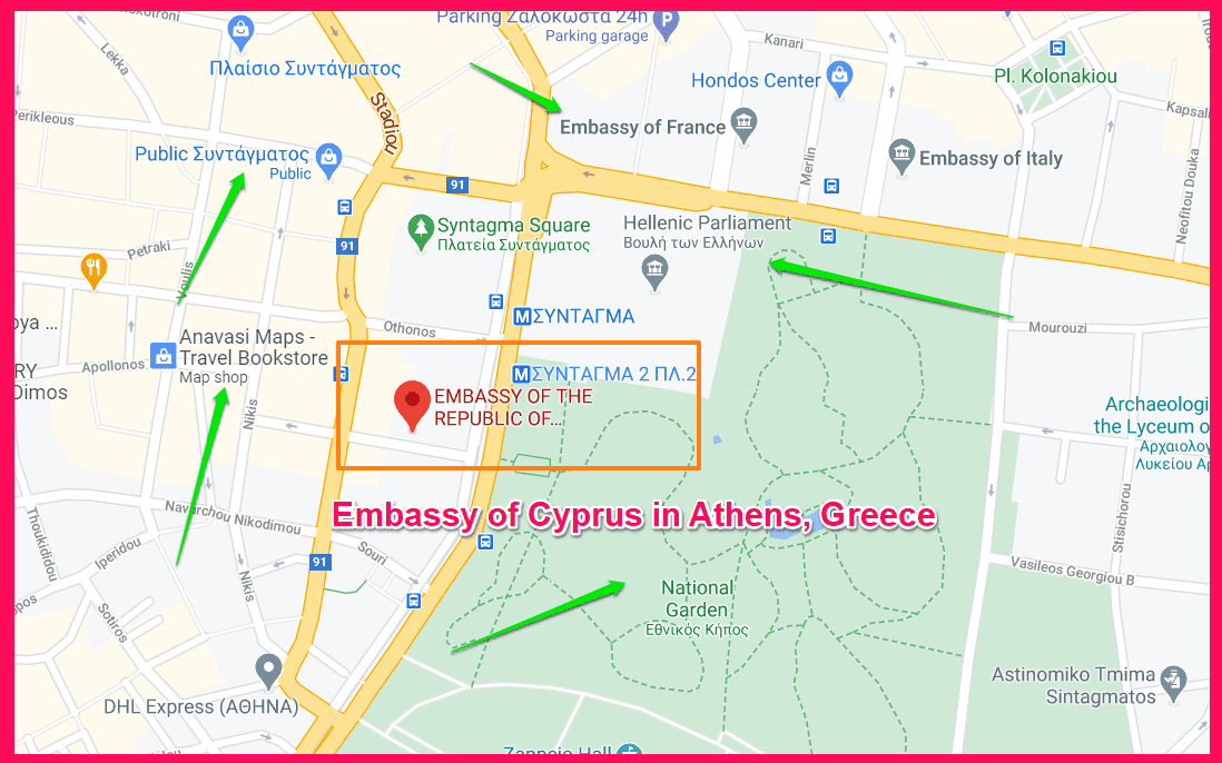 Embassy of Cyprus in Athens, Greece