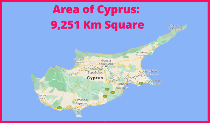 Area of Cyprus Compared to Netherlands