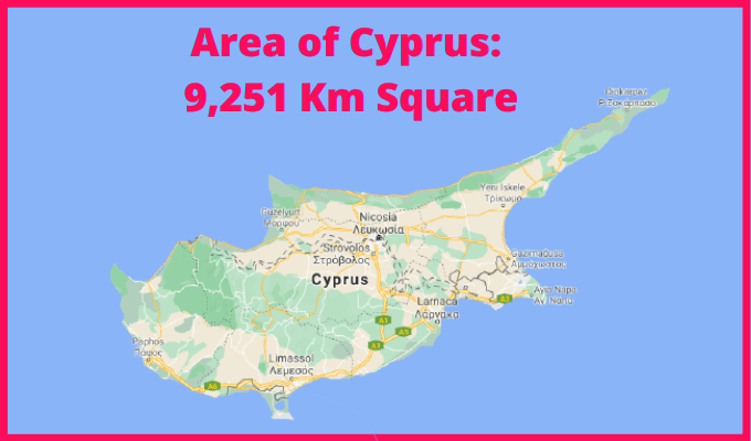 Area of Cyprus Compared to Singapore