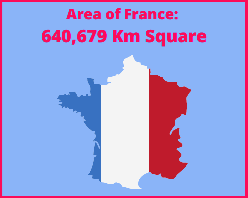Area of France compared to Greece